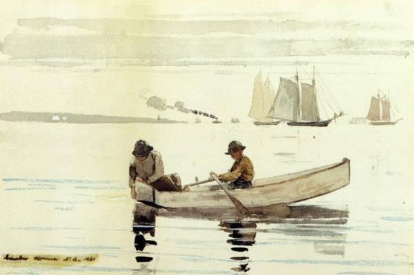 Boys Fishing Gloucester Harbor